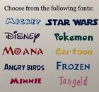 2 X Personalised Name / Word Girls Boys Vinyl Decal Stickers