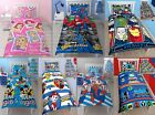 Kids Children REVERSIBLE Duvet Covers Sets with Matching Pillow Kids Bedding