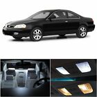 8x Xenon White Bulb LED Llights Interior Package Kit For 2001-2003 Acura CL AC1W