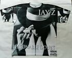 Jay Z Reasonable Doubt sublimated dry fit T Shirt  black brooklyn nyc hip hop