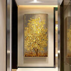 Hand Painted Abstract Oil Painting on Canvas Wall Art Home Decor Golden Tree 604