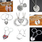 Mother & Daughter Heart Friendship Necklace Set Best Friend Mom Heart I Love You