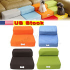 Pet Stairs 2 Step Pure Color Dog Puppy Cat Sofa Bed Indoor Soft Ramp Ladder USA