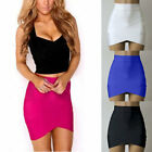 US Women's Ladies Bodycon Hight Waist Bandage Stretch Tight Pencil Mini Skirt