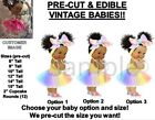 PRE-CUT Rainbow Tulle Party Dress Head Bow Baby Girl EDIBLE Cake Topper Image