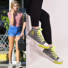 Kids Girl Lace Up Trainers High Top Flat Sneakers Canvas Pumps Casual Shoes Size