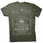 Gettin' Old Pissy And Cranky - Est. 1991 - 27th Birthday Gift T-shirt - 002-