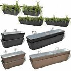 Pack of 2 Balcony Trapezoid Rattan Hanging Planter Pot Flowers Garden Outdoor
