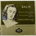 "JEANNE DEMESSIEUX Bach Fantasia And Figue In G Minor... 10"" VINYL UK Decca 2"