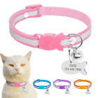 Reflective Pet Puppy Dog Cat Breakaway Collar & Tag Personalized Quick Release