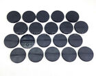 32mm Round Black Plastic Slotta / No Slot Bases - Wargaming Warhammer 40k
