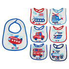 Baby Boys Girls 7 Pack Bibs Days Of The Week Multi-pack Waterproof PEVA Backing
