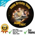 Star Trek Theme Personalised Edible Cake Topper and Ribbon Set Icing or Wafer on eBay