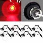 "8pcs 3/4"" Red Clearance LED Bullet Light Lamp Truck Trailer Round Side Mark"
