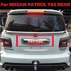 Tail Gate Rear Door Trunk Cover Lid Strip Trim For Nissan Patrol Y62 2015-ON