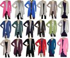 Ladies Long Sleeved Drapes Down Cardigan UK Size 10 - 22 (CDGN)