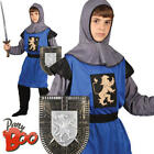 Medieval Knight Boys Fancy Dress Royal Guard History Book Day Kids Child Costume