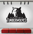 Minnesota Timberwolves Logo Wall Decal NBA Sport Sticker Decor Black Vinyl CG491 on eBay