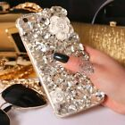 NEW DELUX COOL LUXURY BLING WHITE ROSE DIAMANTE CASE VARIOUS MOBILE PHONE 7 8 9