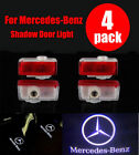 2/4X Mercedes Benz Projector Car Door LED Courtesy Light Puddle Ghost Laser LOGO