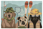 "AREA RUGS - ""FISHING CANINES"" INDOOR OUTDOOR RUG - 20"" X 30"" OR 24"" X 36"""