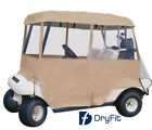 Dry-Fit 4-Sided Portable Travel Drivable Golf Cart Cover - Tan. High Quality.
