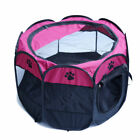 Pet Dog Cat Playpen Tent Portable Exercise Collapsible Fence Kennel Cage Folding