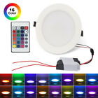 10W Dimmable RGBW LED Recessed Panel Lamp LED Ceiling Down Light Bulb +Remote US