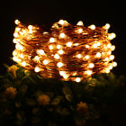 USB 8 Function 10M LED Copper Wire String Light Indoor Outdoor Christmas Decor