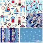 SHIPS AHOY ~ CHARM PACKS, JELLY ROLL STRIPS, FQ, 100% COTTON FABRIC PATCHWORK
