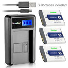 Kastar Battery LCD Charger for Sony NP-BD1 NPBD1 & Sony DSC-T200 Digital Camera