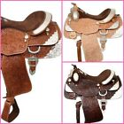 """Fully Tooled Show Saddle with Silver 16"""" Light Oil, Medium Oil or Dark Oil NEW"""