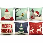 6 Packs Chirstmas Pillows Covers 18 X 18 Christmas Décor Pillow Covers Throw