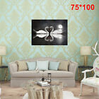 BLACK&amp;WHITE LOVE HEART SWANS STRETCHED Pictures Canvas Art Wall Prints Unframed <br/> ☆High Quality☆Fast &amp; Free Postage☆UK