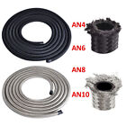 10Ft Nylon and Stainless Steel Braided Fuel Oil Gas Line Hose AN4 -6AN AN8 AN10