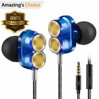 Wired Earbuds In Ear Heaphones with Microphone, Corded Stereo Earphones with for