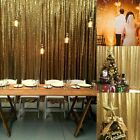2 Panel 8ftx2ft Gold Shimmer Sequin Curtain Potography Backdrop Wedding Decor