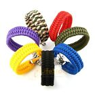 550lb Paracord Survival Military Weave Bracelet Buckle Cord Wristband Camping