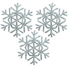 Silver Snowflake Applique Patch (Small, Iron on)