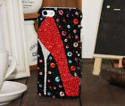 Red High-heel shoes Bling Gems Glitter Rhinestones Case Cover For Mobile Phone