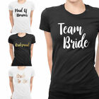 Team Bride To Be Squad Tribe Hen Do Night Party Bridesmaid Printed T-Shirt Top