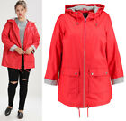 New Look Curve Plus Size Red Padded Water Proof Mac Rain Coat Jacket Sizes 18-26