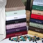 """1000TC 15""""Deep Pocket Fitted Sheet Egyptian Cotton All US Size Striped Colors image"""