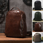 Men's Real Leather Business Backpack Rucksack School bag Daypack Travel Bag