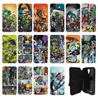 DC Marvel superhero comic book Flip Wallet cover case for Samsung Galaxy No.20