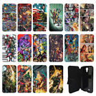 DC Marvel superhero comic book Flip Wallet cover case for Samsung Galaxy No.12