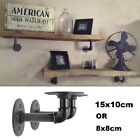 Внешний вид - 2Pc  Industrial Black Iron Pipe Shelf Bracket Wall Mounted Floating Shelf Honder