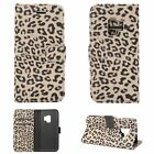For Samsung Galaxy S9/S8/S7 Case Wallet Leopard Leather Flip Cover Folio Pocket