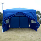 3x3m Waterproof Outdoor Garden Pop Up Gazebo Marquee Canopy Party Tent With Side