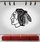 Chicago Blackhawks Logo Wall Decal Ice Hockey NHL Sport Black Vinyl CG587 $52.0 USD on eBay